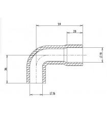 16-19mm Länge 36x59mm - Schlauch Aspiration Motor - REDOX