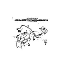 5 silikon kühlwasserschläuche Kit für RENAULT Clio I 1.2 1991-1995 RL RN RT