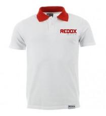 Polo REDOX weiß roter ausschnitt