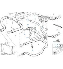 8 silikon kühlwasserschläuche Kit für BMW E36 325i M50B25 ausgestattet kühler mit integriertem Ausgleichsbehälter