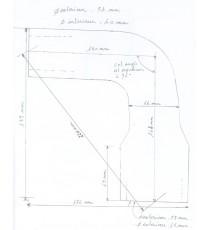 Silikon oberer Wasserkühlerschlauch für Mac Cormick B414 série 21638 de 1964