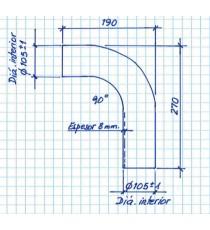 102mm Nach Mass Kohlenwasserstoff - 90° Bogen Silikon - REDOX