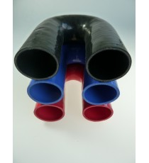 54mm Länge 150x150mm - 180° Bogen Silikon - REDOX