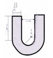 51mm Länge 80x80mm - 180° Bogen Silikon - REDOX