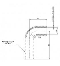 16-19mm Länge 133x73mm - Schlauch Rückkehr Motor - REDOX