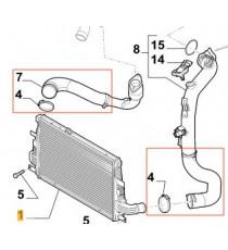 2 silikon Turbolader Luftdieselschläuche Kit für ALFA ROMEO 159 SW 2.0 JTDM 170cv 2009-2011