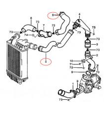 2 silikon ansaugschläuche Kit für ALFA ROMEO 156 2.4 JTD 841 C000 150cv 03/2002 - 09/2005