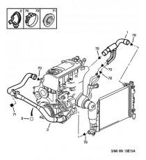 4 silikon kühlwasserschläuche Kit für PEUGEOT 106 RALLYE PH2