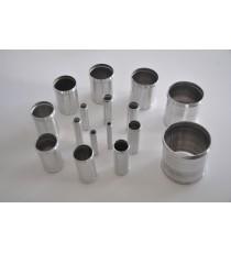 80mm - Muff Recht Aluminium 100mm - REDOX