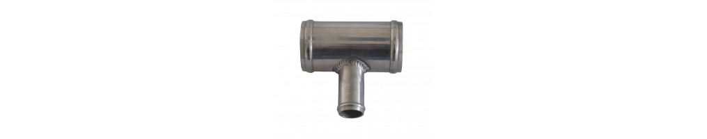 Muffe T mit Bypass Aluminium